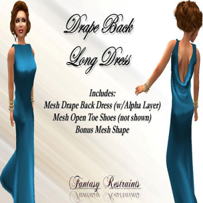 Drape Back - Teal